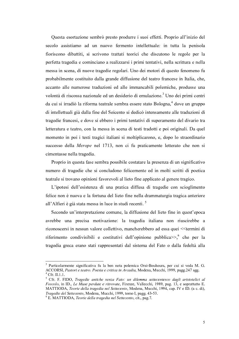 Anteprima della tesi: Tragedie a lieto fine del primo Settecento, Pagina 3