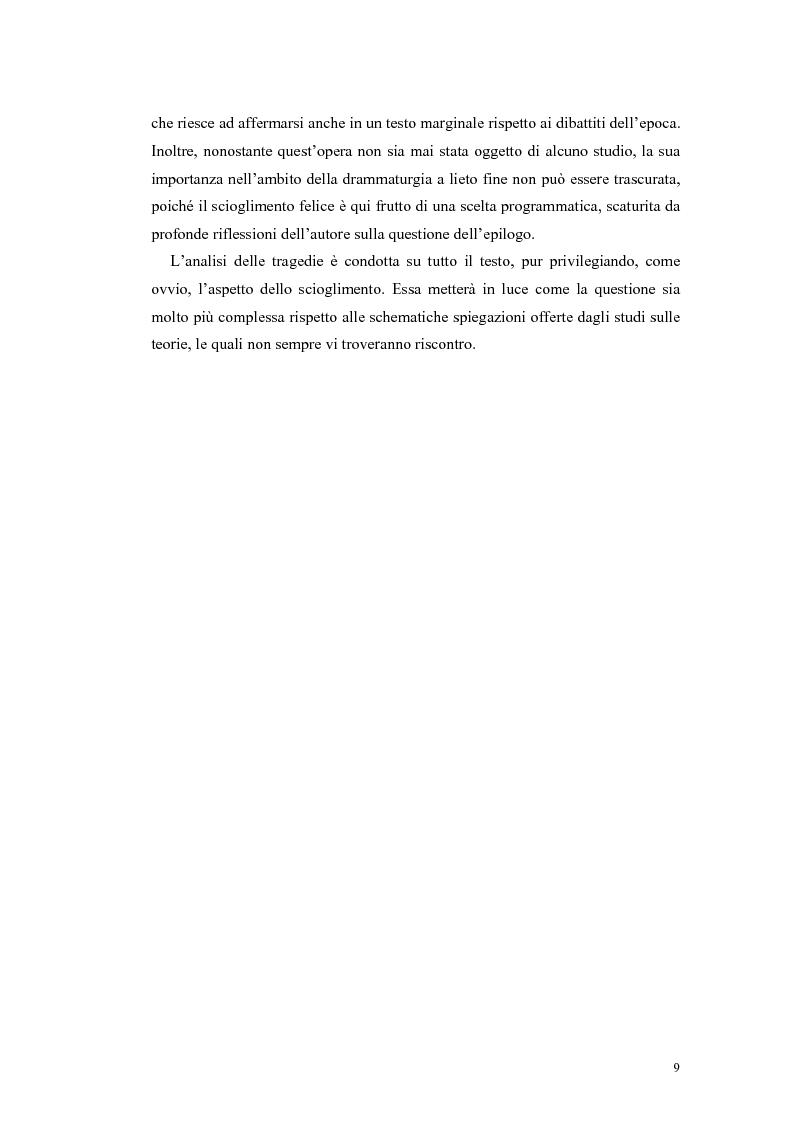 Anteprima della tesi: Tragedie a lieto fine del primo Settecento, Pagina 7