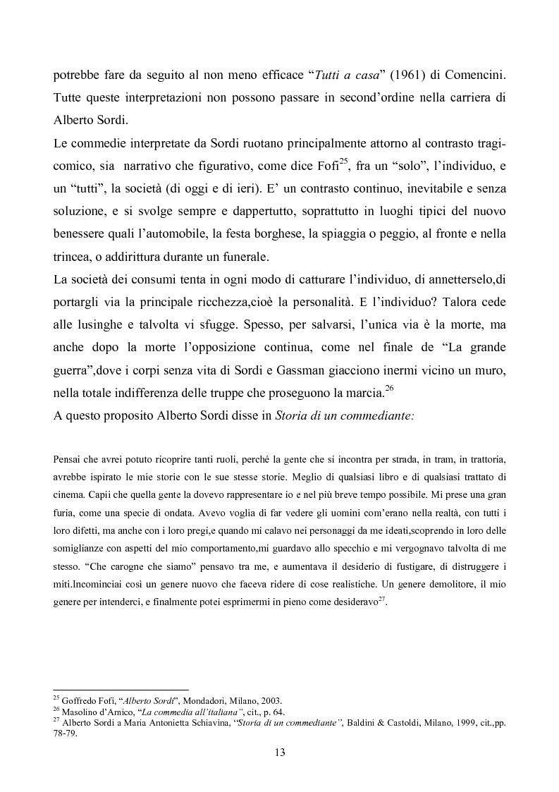 Anteprima della tesi: Tre personaggi etici del cinema di Alberto Sordi: Il vigile, Una vita difficile, Il commissario, Pagina 10