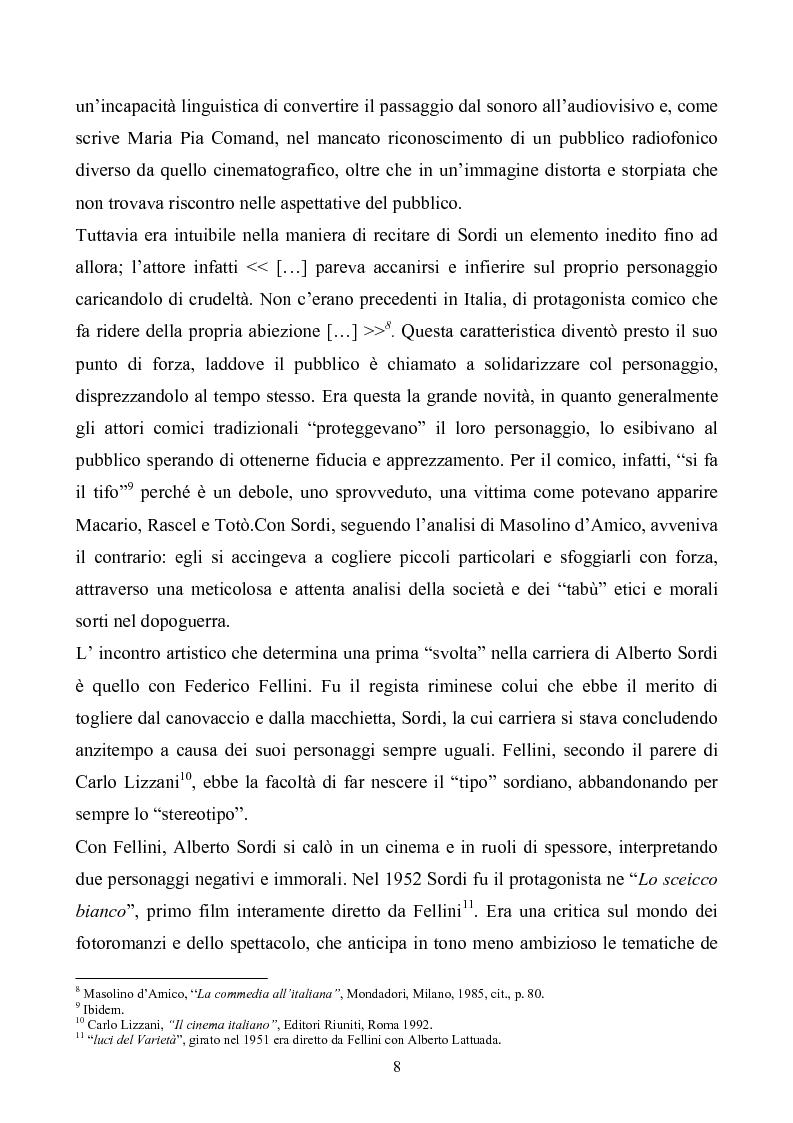 Anteprima della tesi: Tre personaggi etici del cinema di Alberto Sordi: Il vigile, Una vita difficile, Il commissario, Pagina 5
