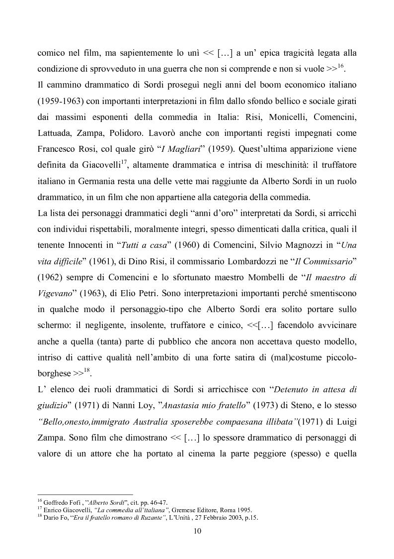 Anteprima della tesi: Tre personaggi etici del cinema di Alberto Sordi: Il vigile, Una vita difficile, Il commissario, Pagina 7