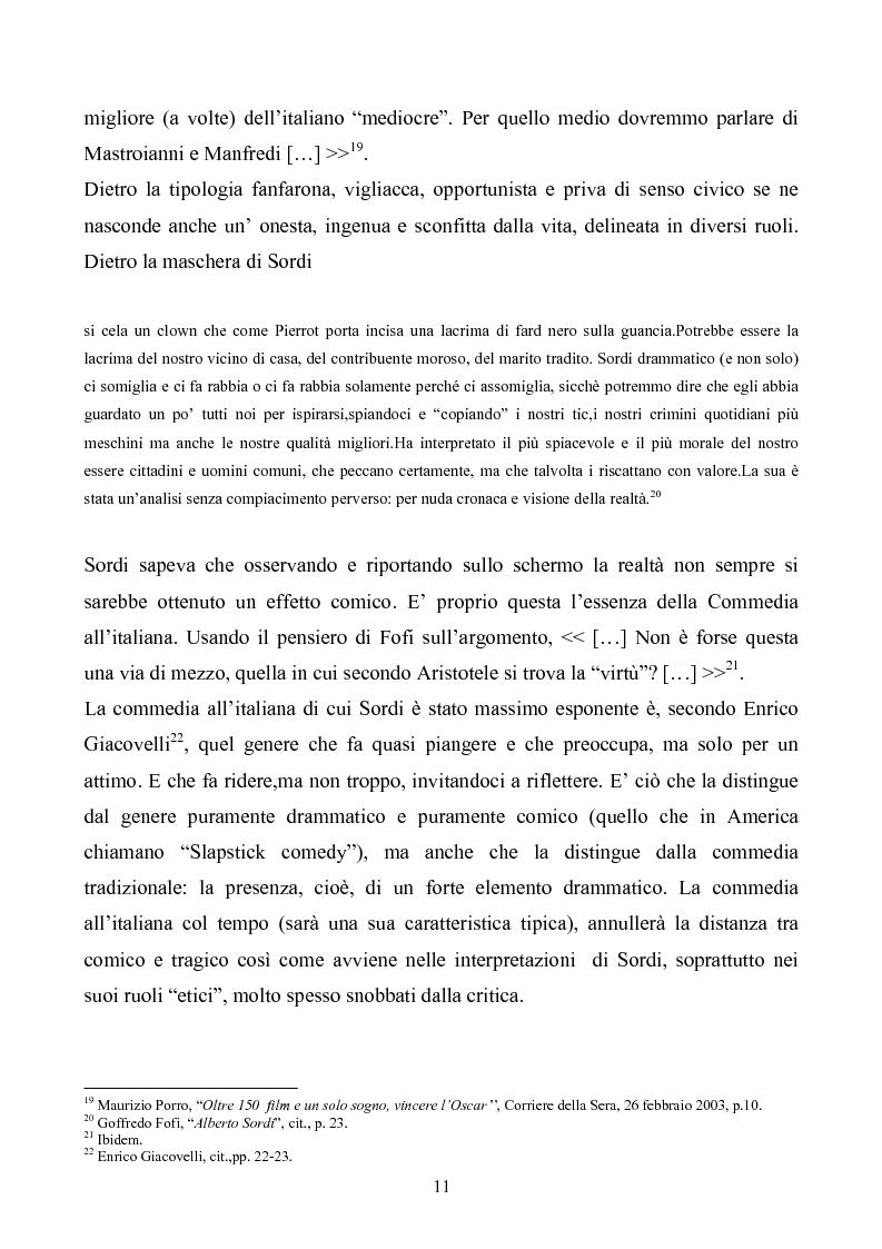 Anteprima della tesi: Tre personaggi etici del cinema di Alberto Sordi: Il vigile, Una vita difficile, Il commissario, Pagina 8