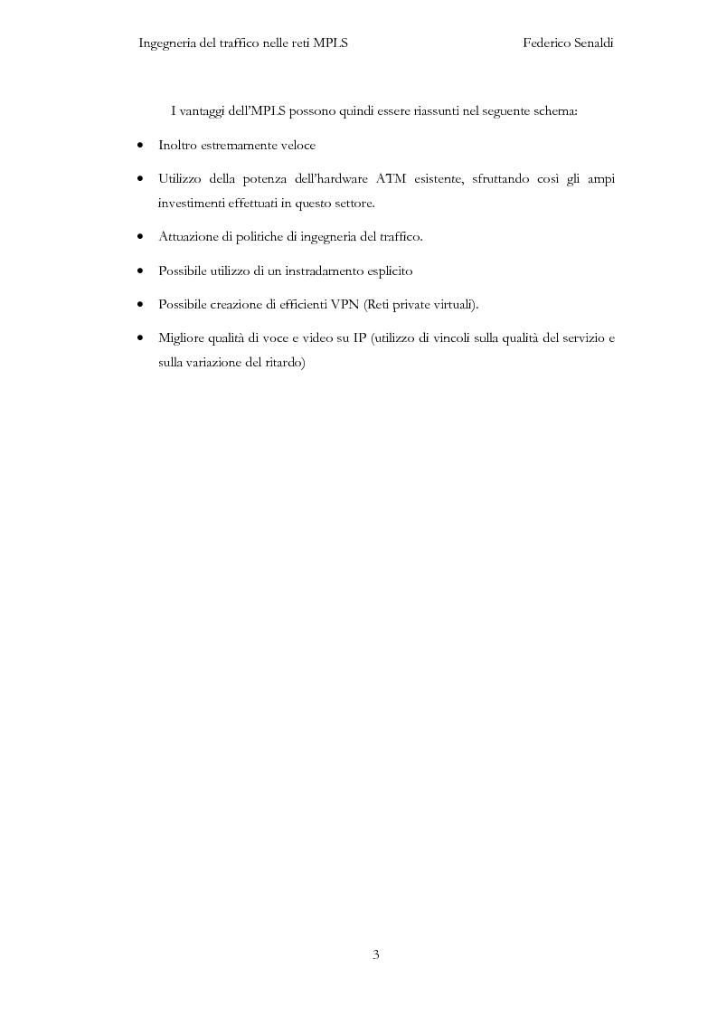 Anteprima della tesi: Ingegneria del traffico nelle reti MPLS, Pagina 3