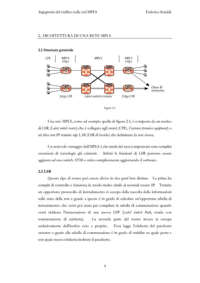 Anteprima della tesi: Ingegneria del traffico nelle reti MPLS, Pagina 4