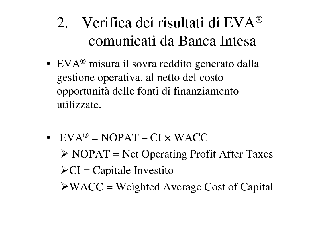 Anteprima della tesi: La creazione del valore nelle banche: il caso Banca Intesa, Pagina 11