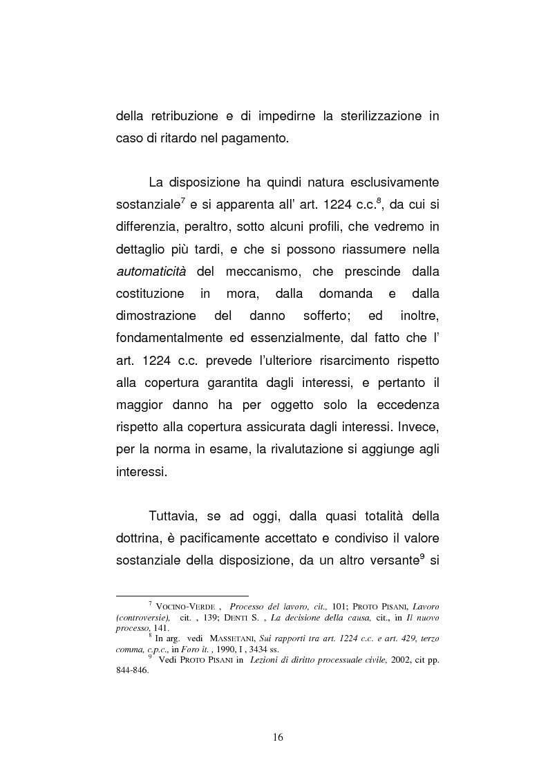 Anteprima della tesi: L'art. 429, terzo comma, c.p.c. , nella legislazione e nella giurisprudenza più recenti, Pagina 10