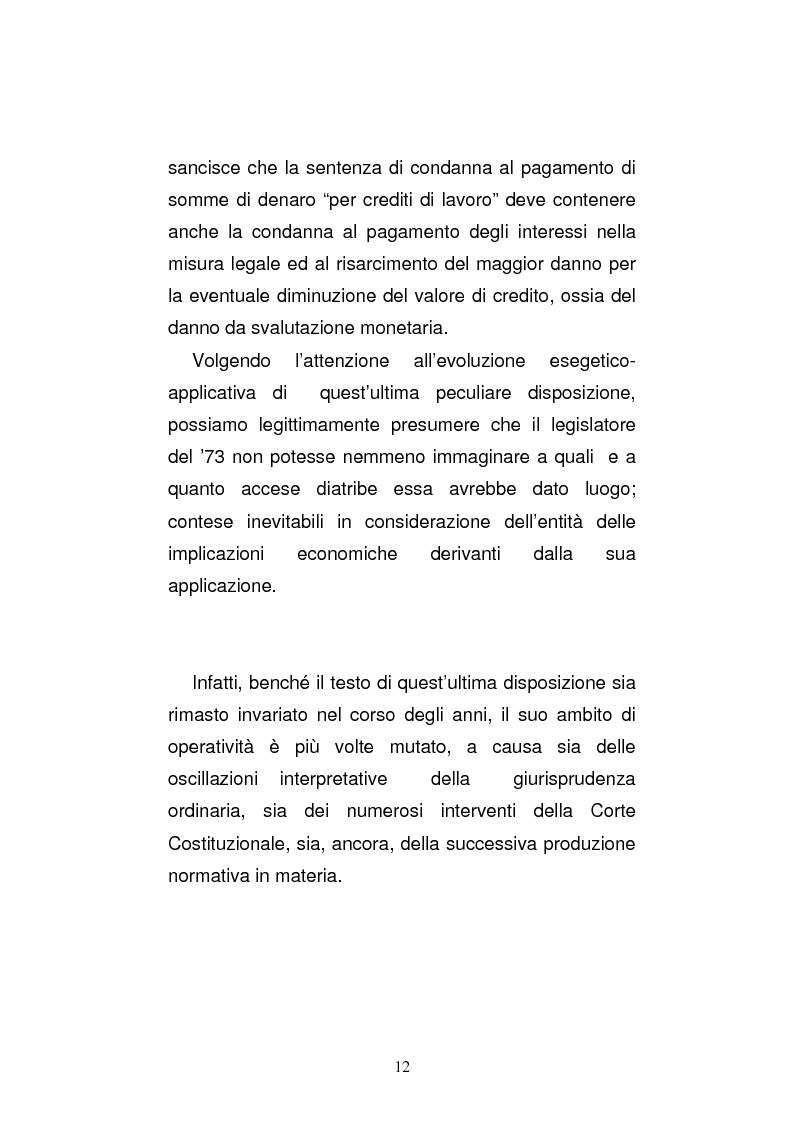 Anteprima della tesi: L'art. 429, terzo comma, c.p.c. , nella legislazione e nella giurisprudenza più recenti, Pagina 6
