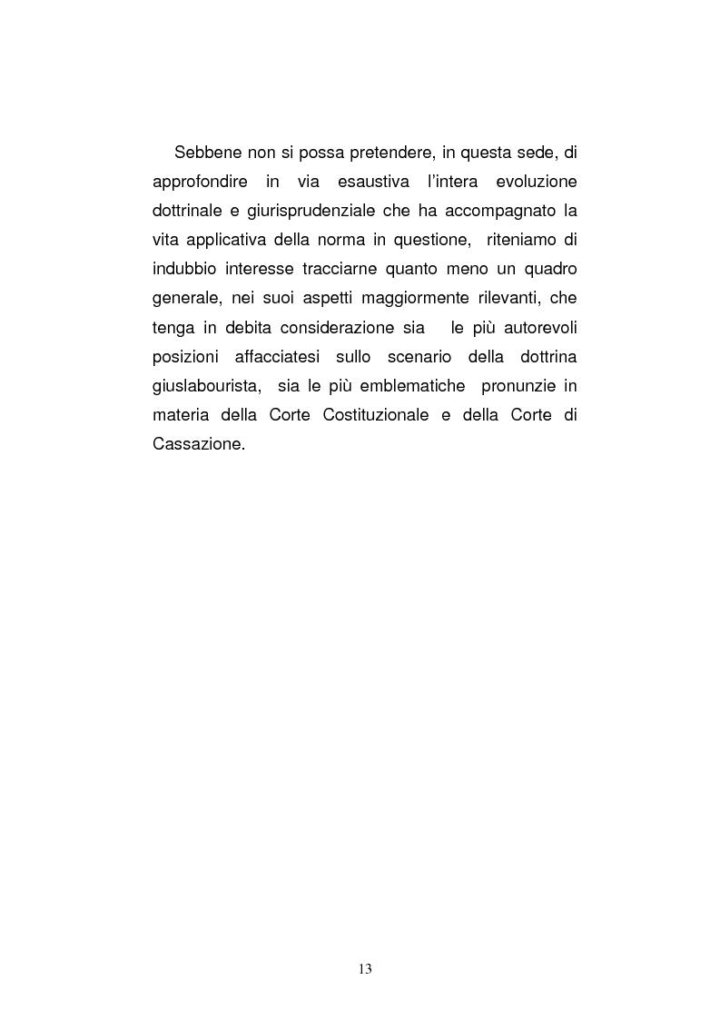 Anteprima della tesi: L'art. 429, terzo comma, c.p.c. , nella legislazione e nella giurisprudenza più recenti, Pagina 7