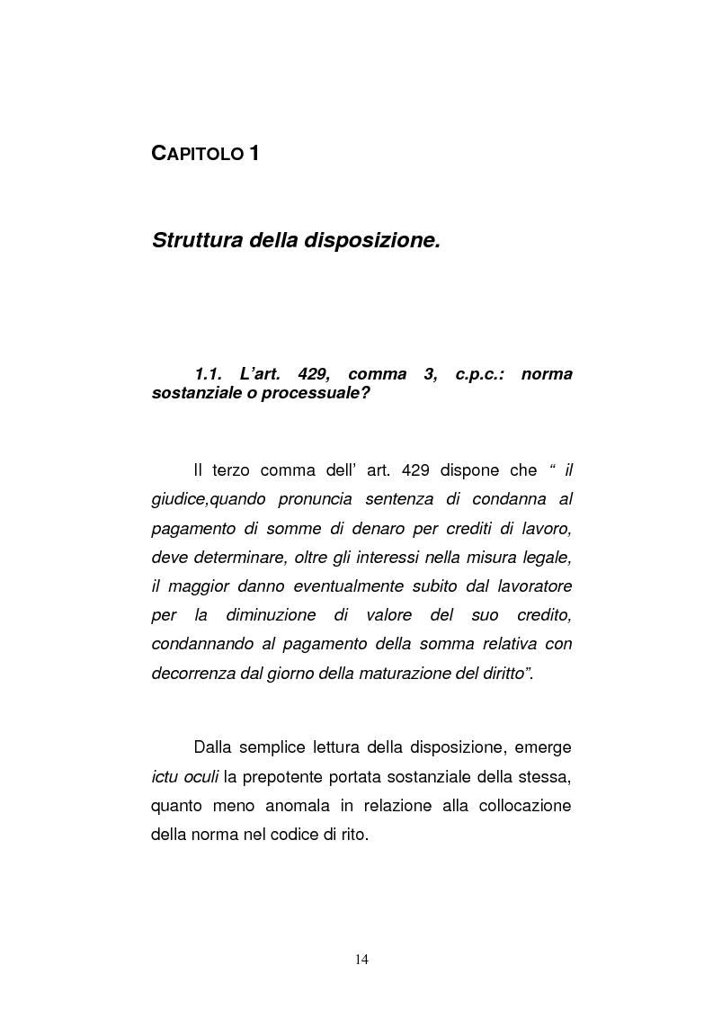 Anteprima della tesi: L'art. 429, terzo comma, c.p.c. , nella legislazione e nella giurisprudenza più recenti, Pagina 8