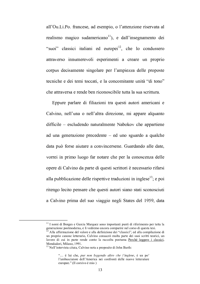 Anteprima della tesi: Destini incrociati: Italo Calvino e gli scrittori americani postmodern, Pagina 13