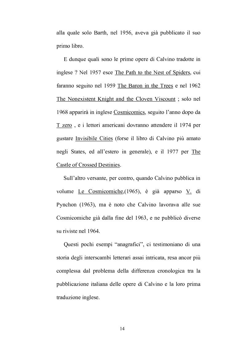 Anteprima della tesi: Destini incrociati: Italo Calvino e gli scrittori americani postmodern, Pagina 14