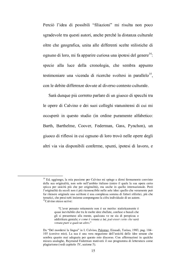 Anteprima della tesi: Destini incrociati: Italo Calvino e gli scrittori americani postmodern, Pagina 15