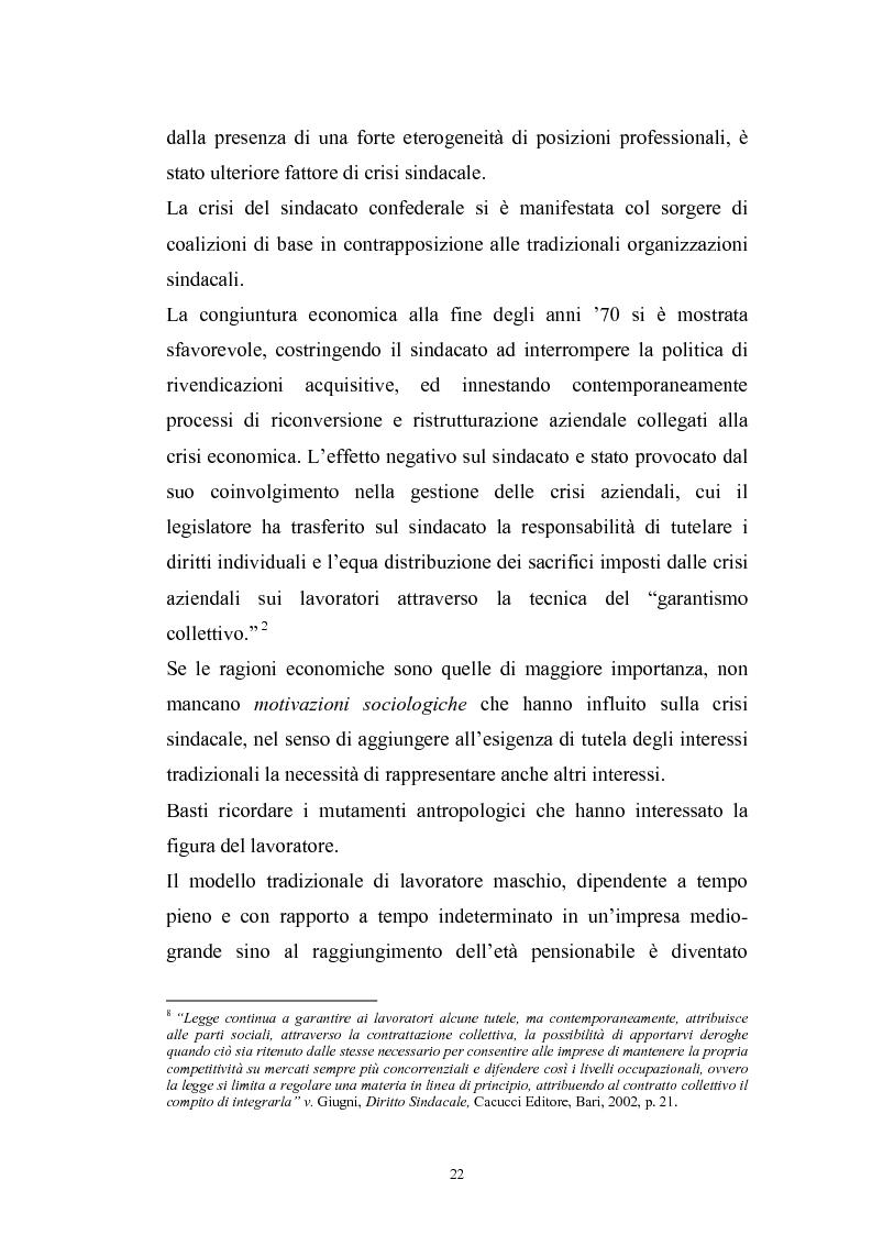 Anteprima della tesi: Le rappresentanze sindacali unitarie nel lavoro privato e pubblico, Pagina 15