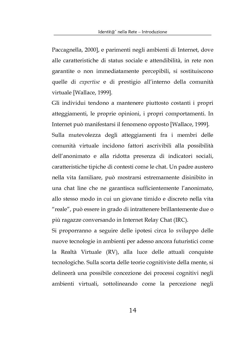 Anteprima della tesi: Identità nella Rete. Per una psicologia della comunicazione mediata dal computer, Pagina 11