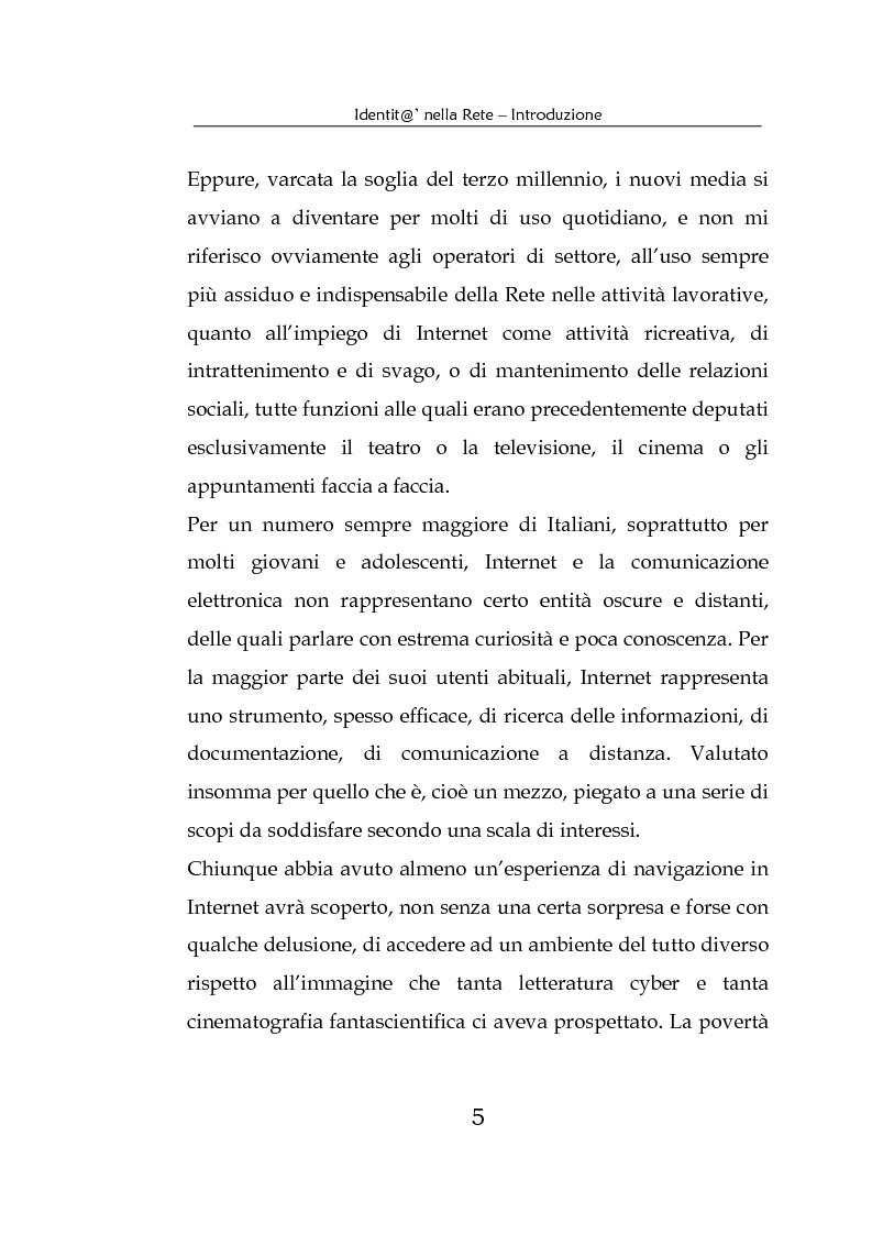 Anteprima della tesi: Identità nella Rete. Per una psicologia della comunicazione mediata dal computer, Pagina 2