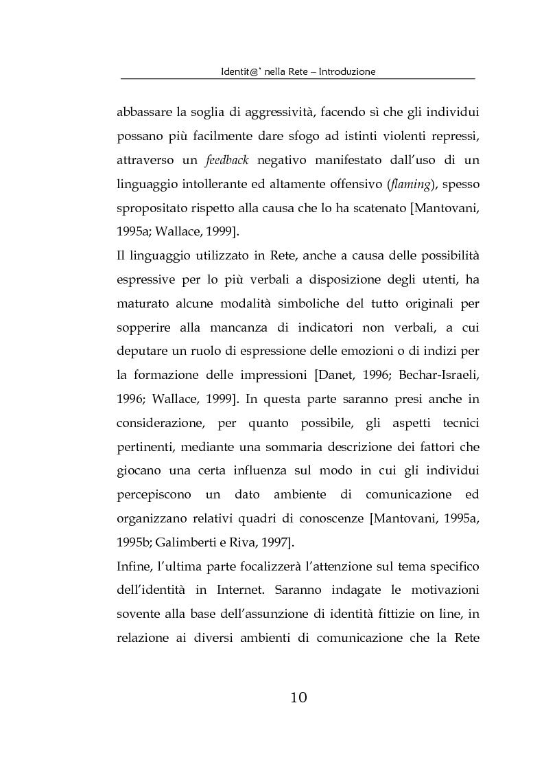 Anteprima della tesi: Identità nella Rete. Per una psicologia della comunicazione mediata dal computer, Pagina 7