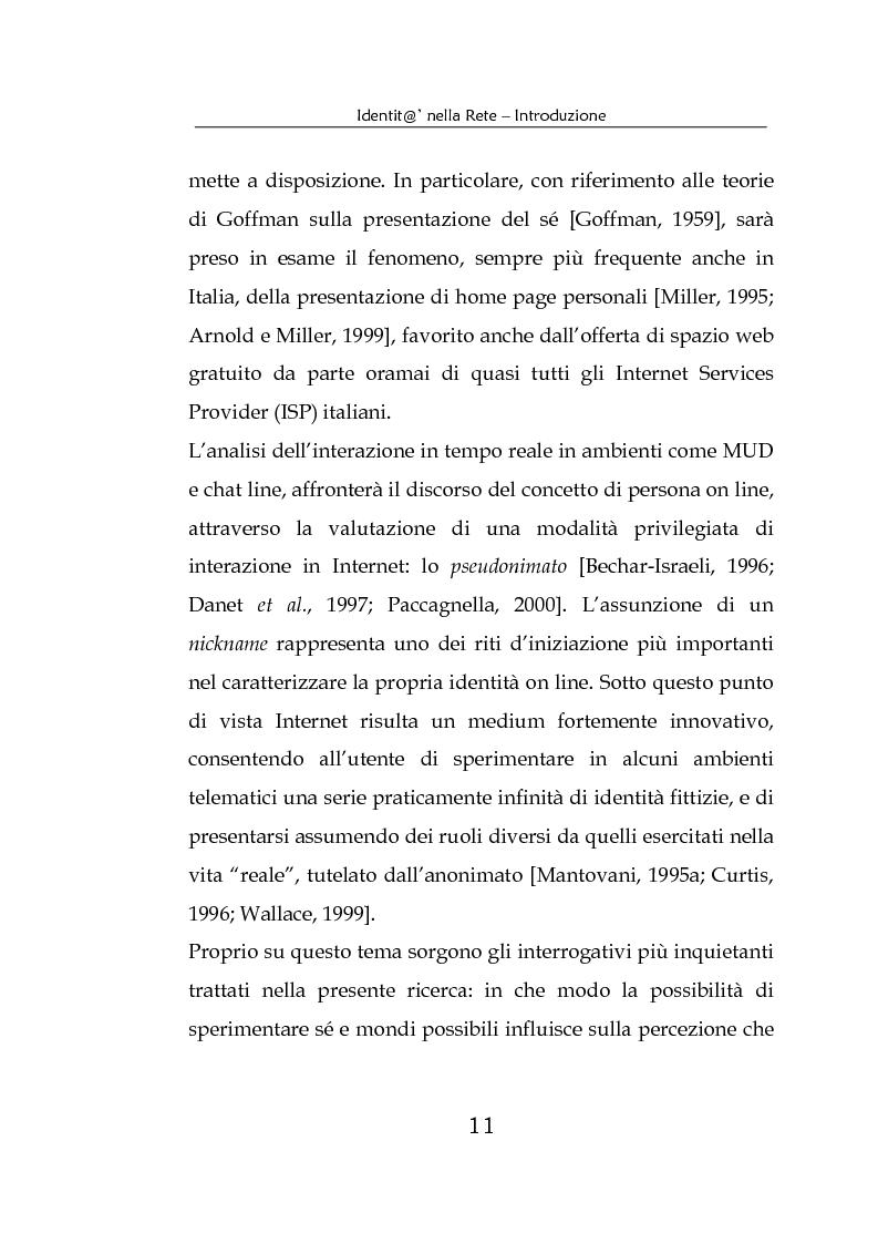 Anteprima della tesi: Identità nella Rete. Per una psicologia della comunicazione mediata dal computer, Pagina 8