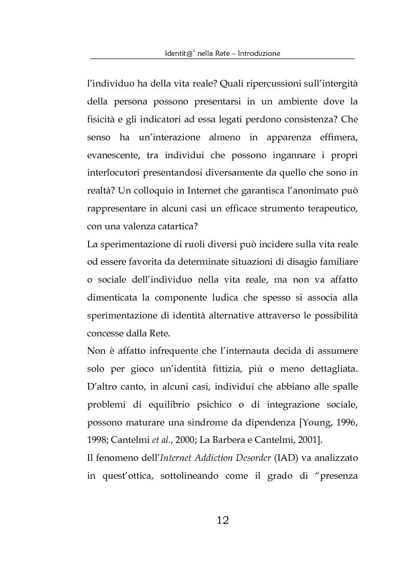 Anteprima della tesi: Identità nella Rete. Per una psicologia della comunicazione mediata dal computer, Pagina 9