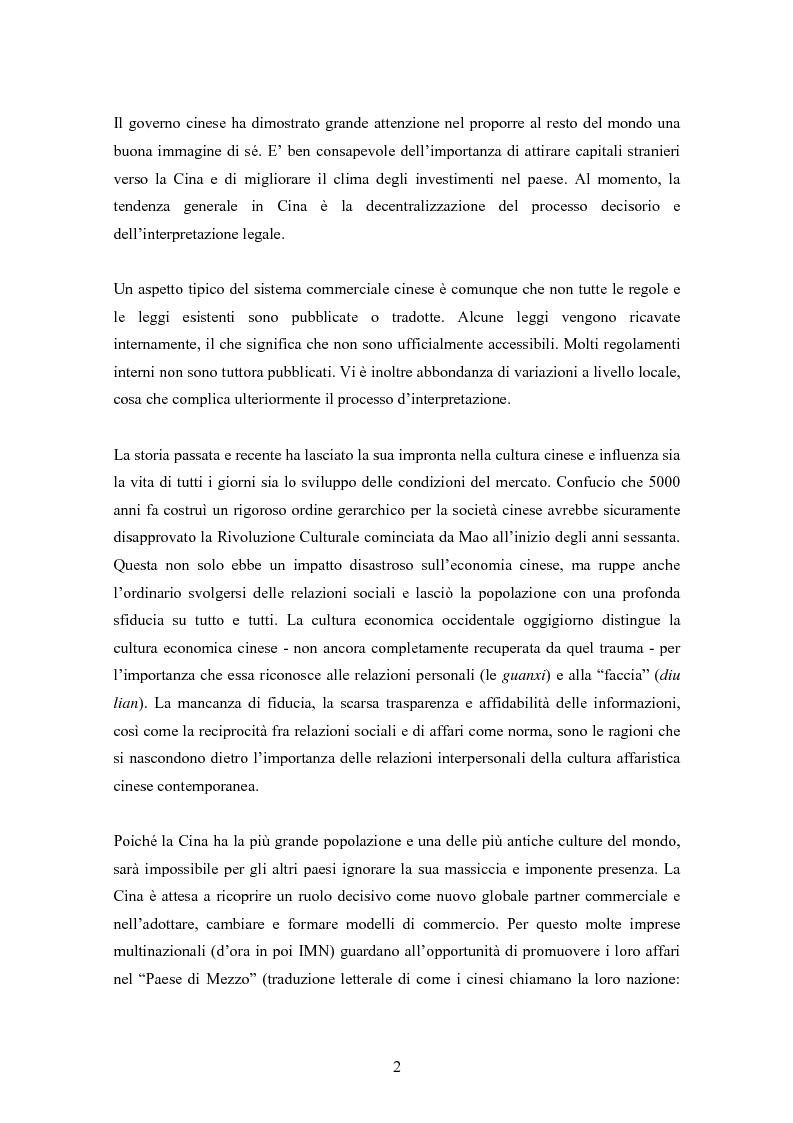 Anteprima della tesi: Situazione del mercato assicurativo cinese: ramo vita, Pagina 2