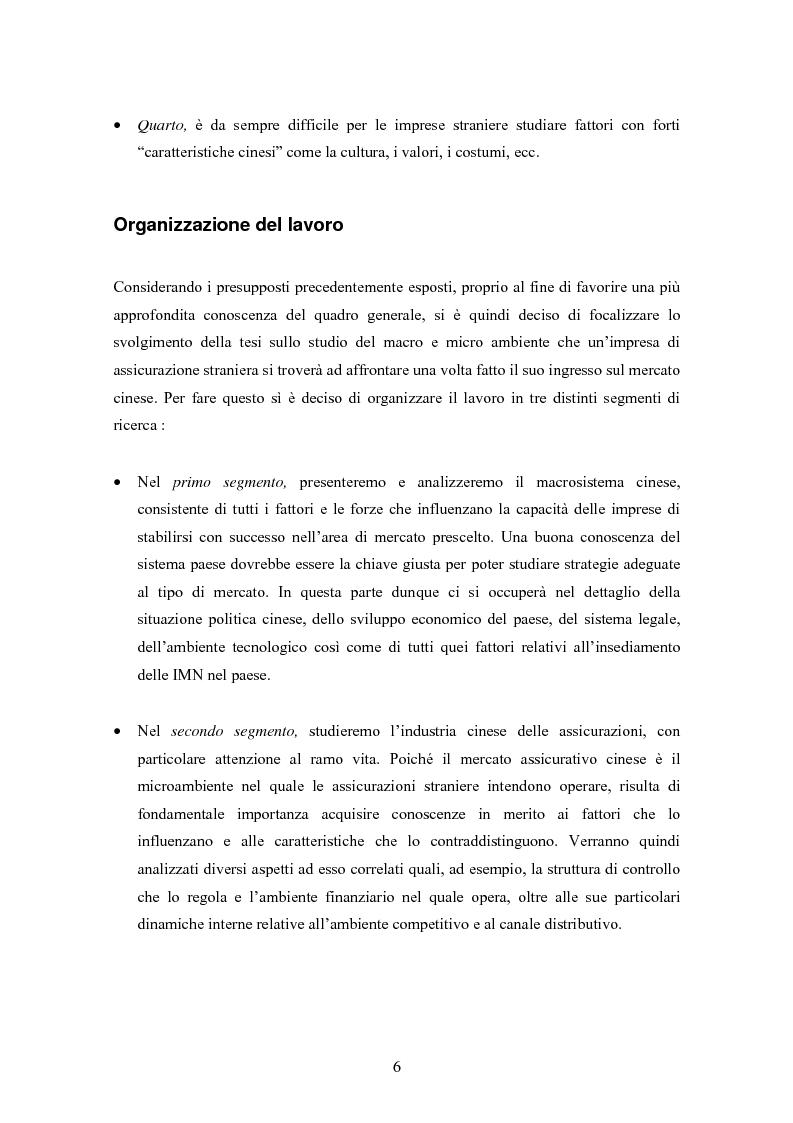 Anteprima della tesi: Situazione del mercato assicurativo cinese: ramo vita, Pagina 6