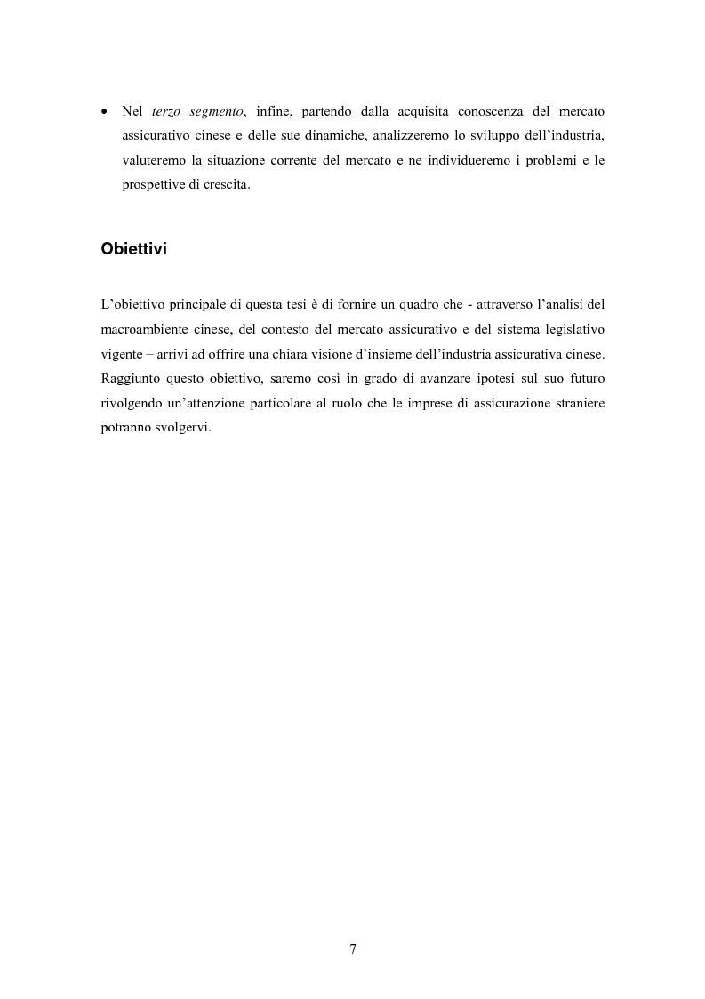Anteprima della tesi: Situazione del mercato assicurativo cinese: ramo vita, Pagina 7
