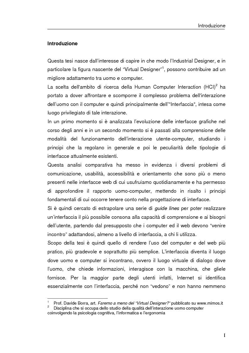 Anteprima della tesi: Interazione uomo computer nello spazio virtuale tridimensionale, Pagina 1