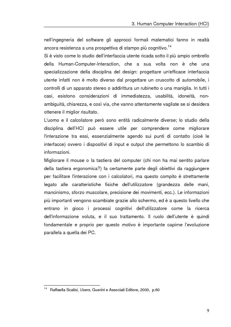 Anteprima della tesi: Interazione uomo computer nello spazio virtuale tridimensionale, Pagina 12