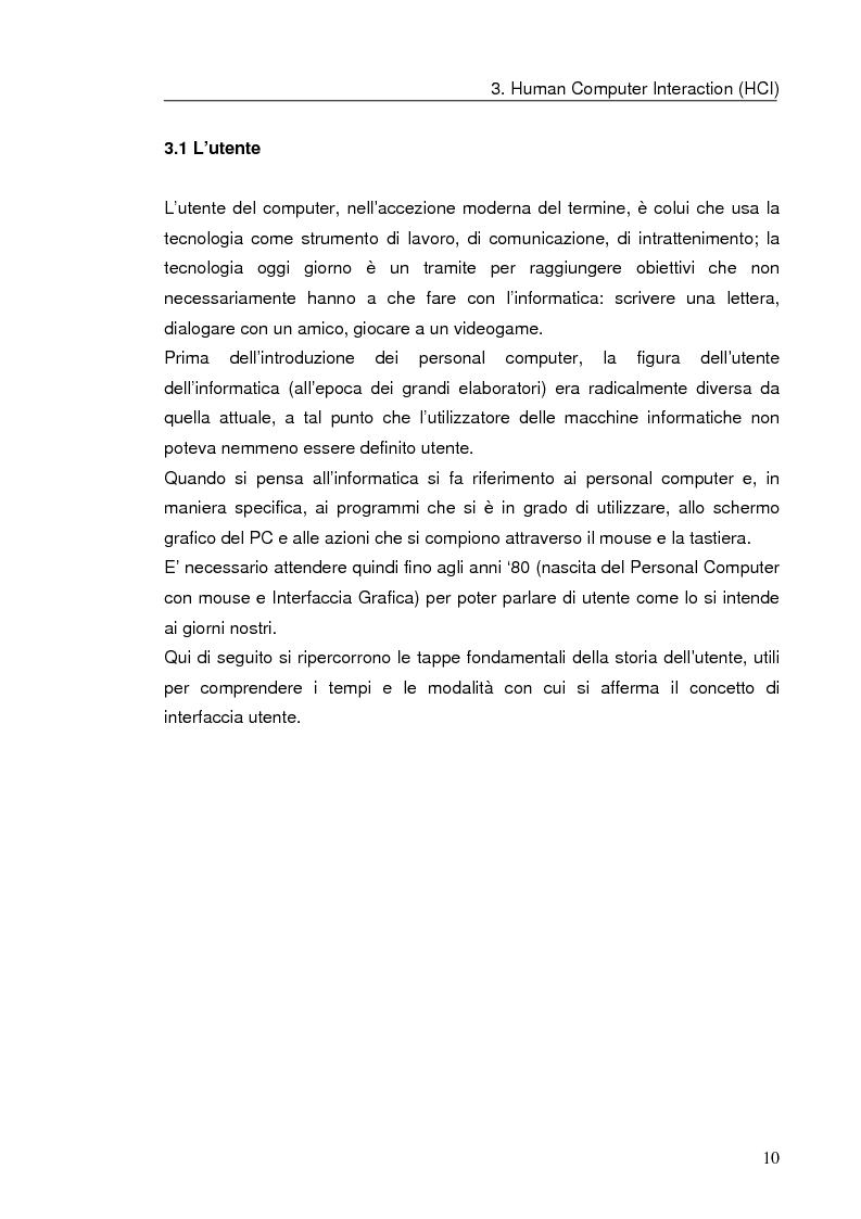 Anteprima della tesi: Interazione uomo computer nello spazio virtuale tridimensionale, Pagina 13