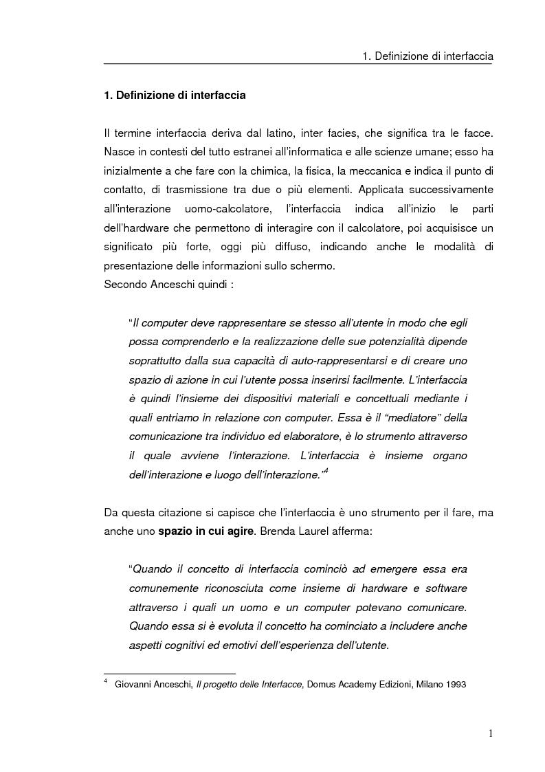 Anteprima della tesi: Interazione uomo computer nello spazio virtuale tridimensionale, Pagina 4