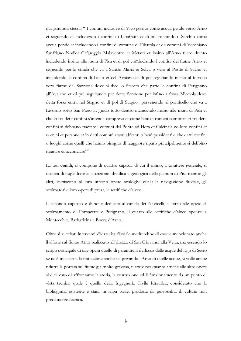 Anteprima della tesi: Interventi idraulici al fiume Arno nella storia, da Pontedera alla foce, Pagina 2