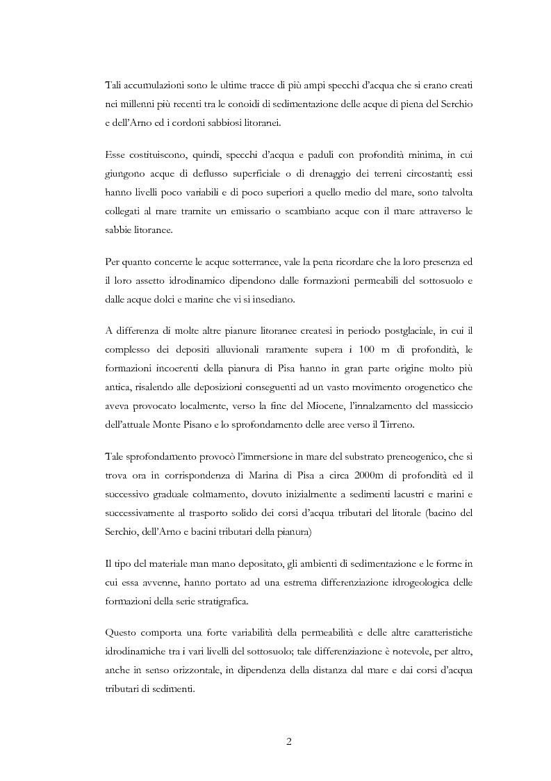 Anteprima della tesi: Interventi idraulici al fiume Arno nella storia, da Pontedera alla foce, Pagina 5