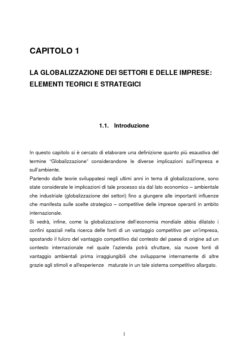 Anteprima della tesi: Strategie di internazionalizzazione e la competitività dell'est europa nel settore abbigliamento, Pagina 1