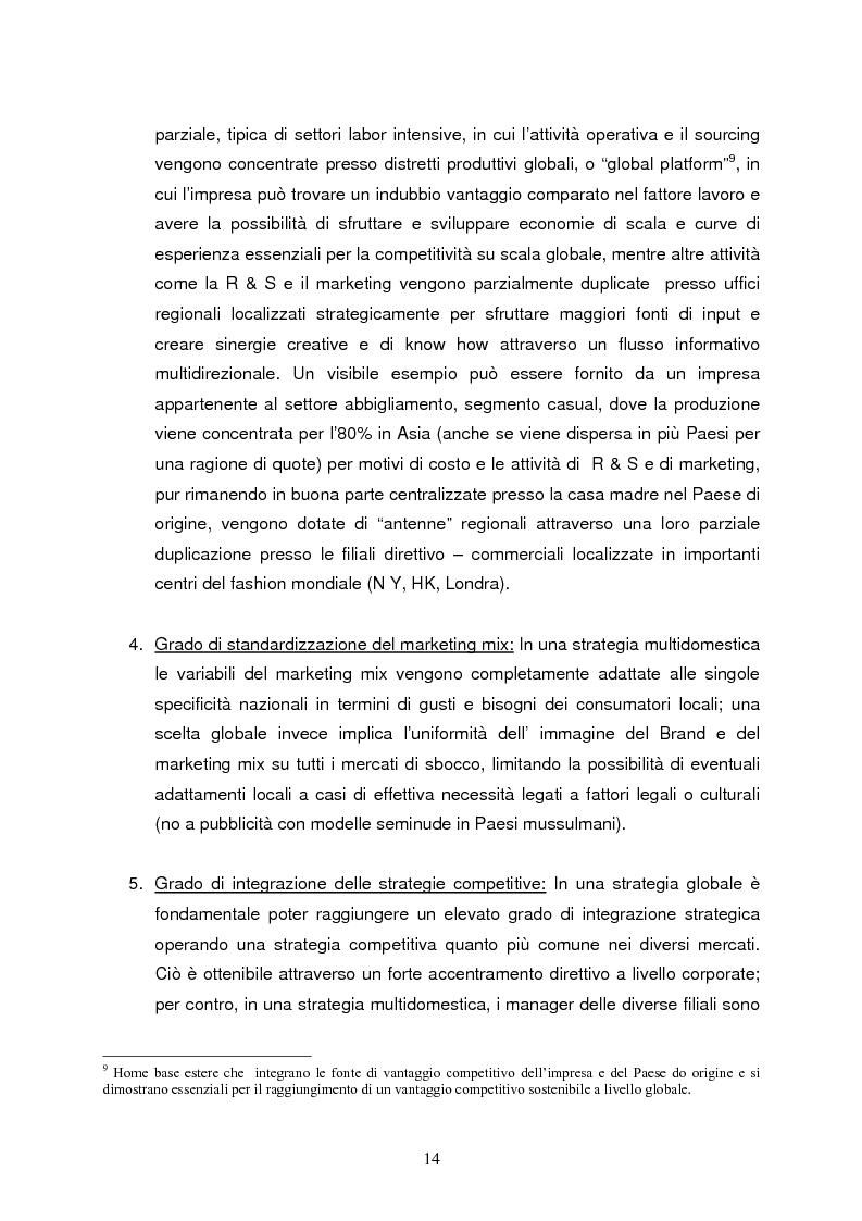 Anteprima della tesi: Strategie di internazionalizzazione e la competitività dell'est europa nel settore abbigliamento, Pagina 14
