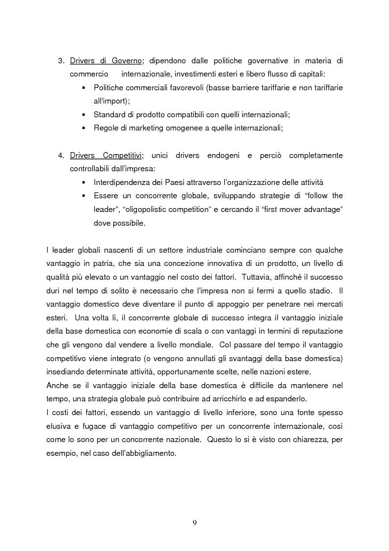 Anteprima della tesi: Strategie di internazionalizzazione e la competitività dell'est europa nel settore abbigliamento, Pagina 9