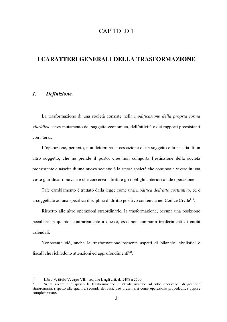 Anteprima della tesi: La trasformazione di società, Pagina 1