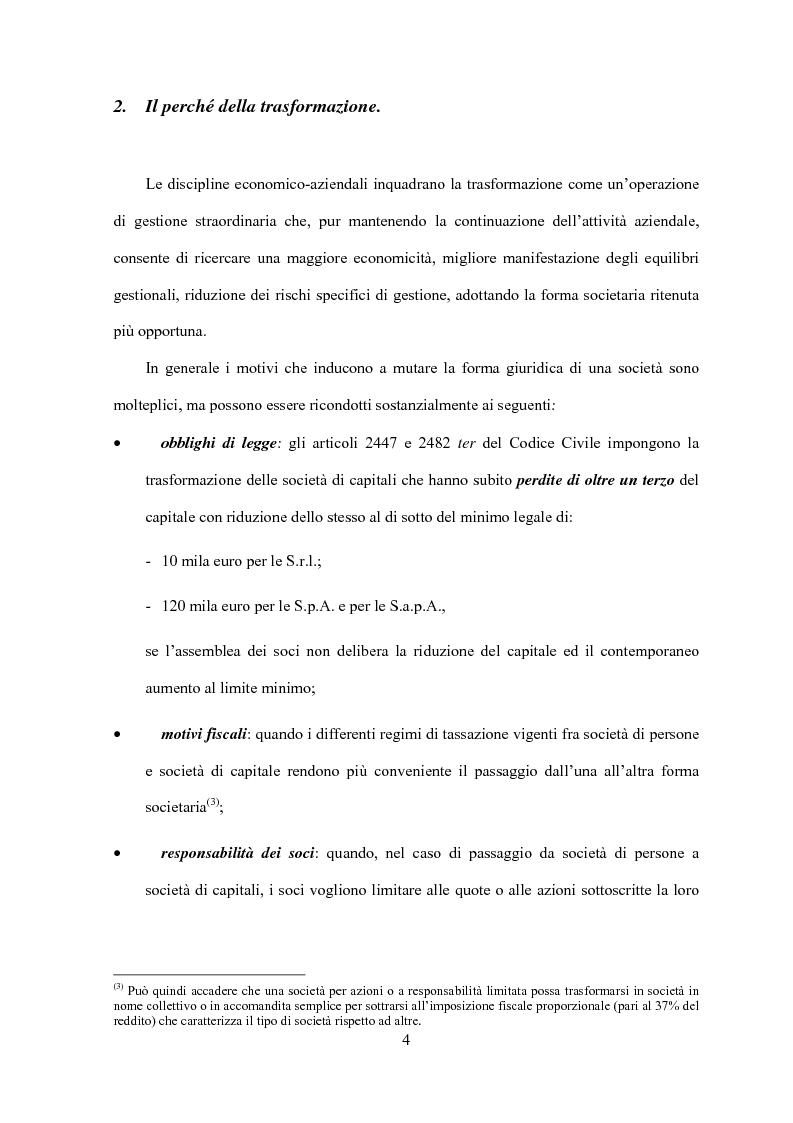 Anteprima della tesi: La trasformazione di società, Pagina 2