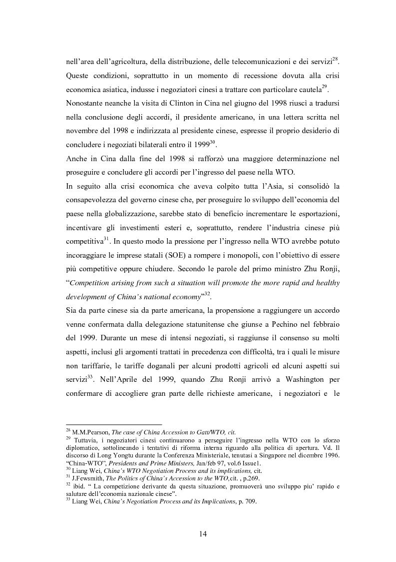 Anteprima della tesi: Problemi e prospettive di una nuova dimensione economica internazionale: la Cina nella WTO, Pagina 11