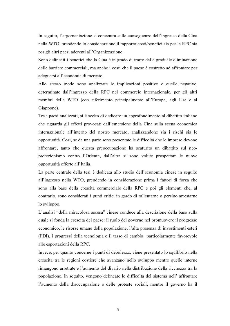 Anteprima della tesi: Problemi e prospettive di una nuova dimensione economica internazionale: la Cina nella WTO, Pagina 2