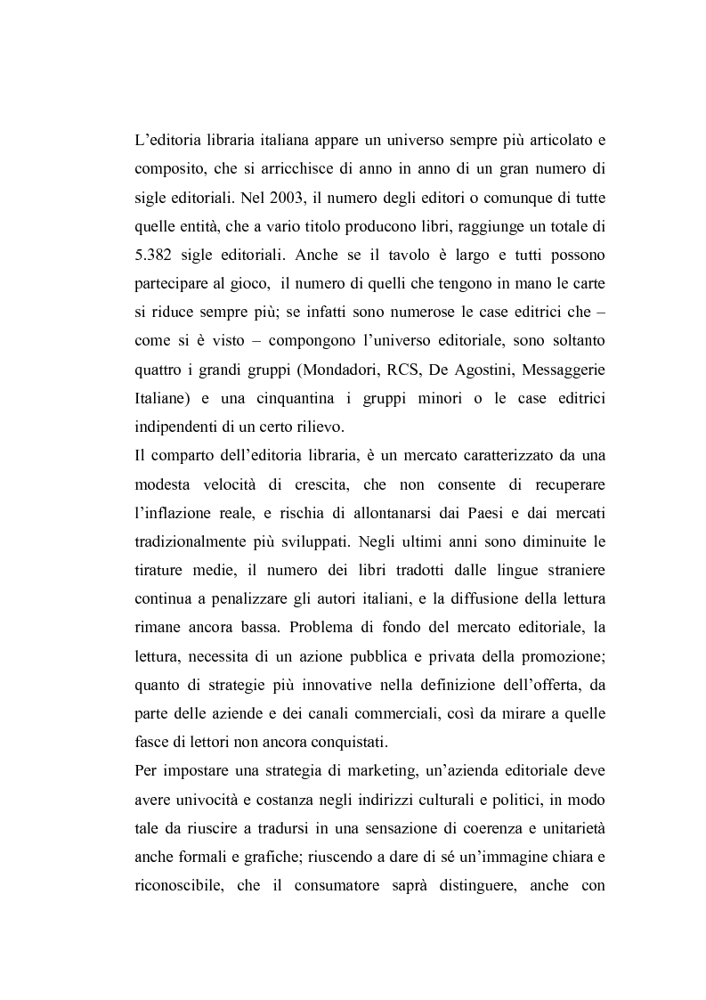 Anteprima della tesi: Il marketing librario fra la carta e la rete. Analisi della mostra mercato Umbria Libri, Pagina 1
