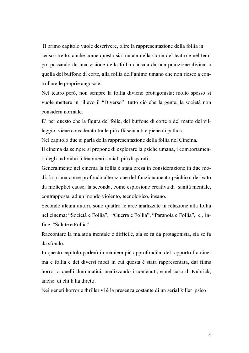 Anteprima della tesi: La rappresentazione della follia dal teatro alla comunicazione multimediale, Pagina 2