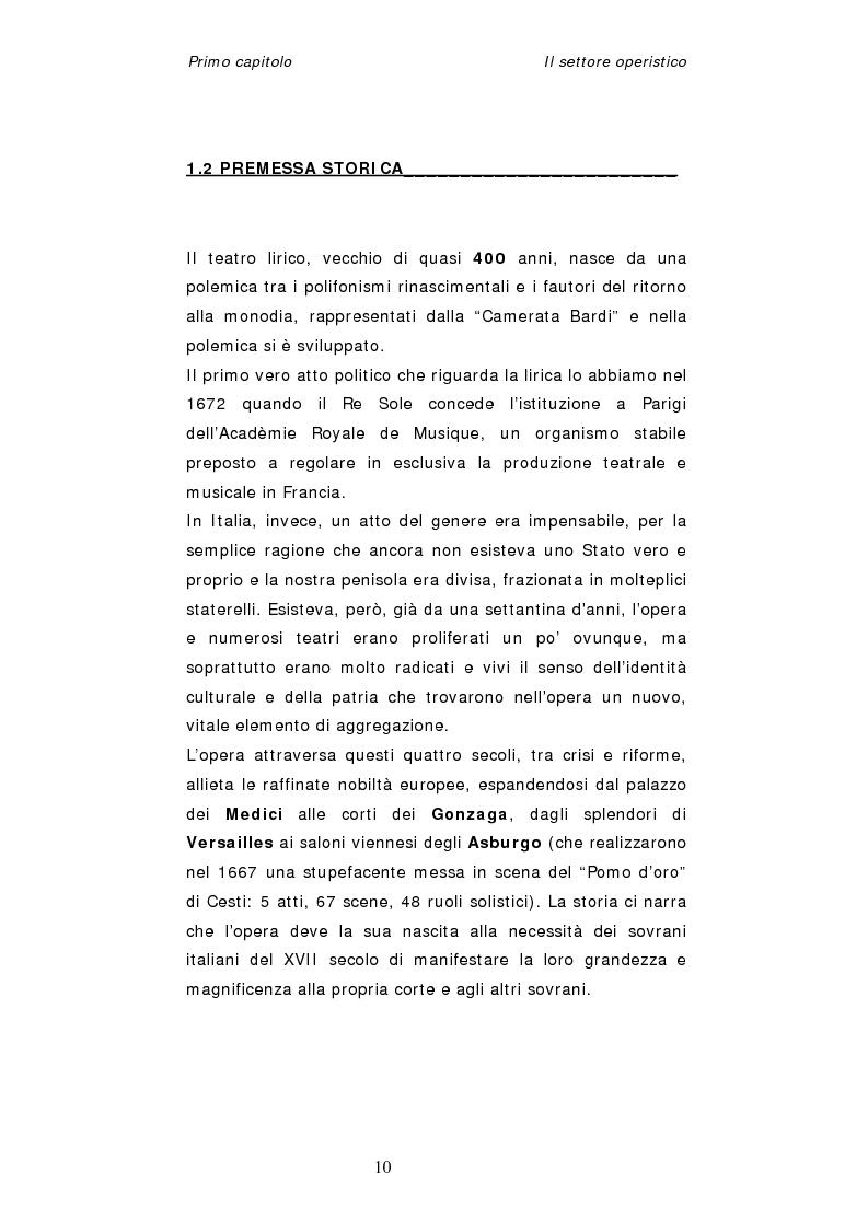 Anteprima della tesi: Dinamiche organizzative e gestionali nei teatri lirici italiani: il caso Fondazione Arena, Pagina 10