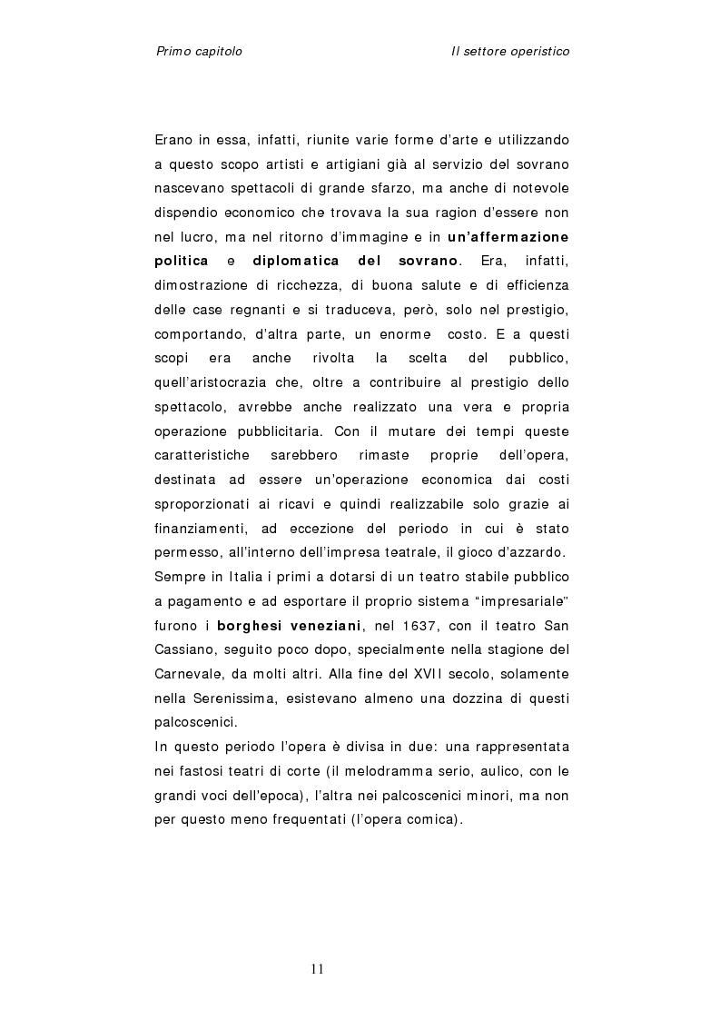 Anteprima della tesi: Dinamiche organizzative e gestionali nei teatri lirici italiani: il caso Fondazione Arena, Pagina 11