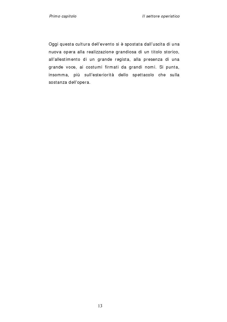 Anteprima della tesi: Dinamiche organizzative e gestionali nei teatri lirici italiani: il caso Fondazione Arena, Pagina 13