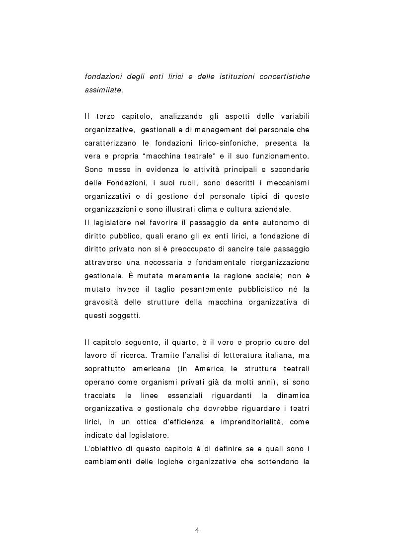 Anteprima della tesi: Dinamiche organizzative e gestionali nei teatri lirici italiani: il caso Fondazione Arena, Pagina 4