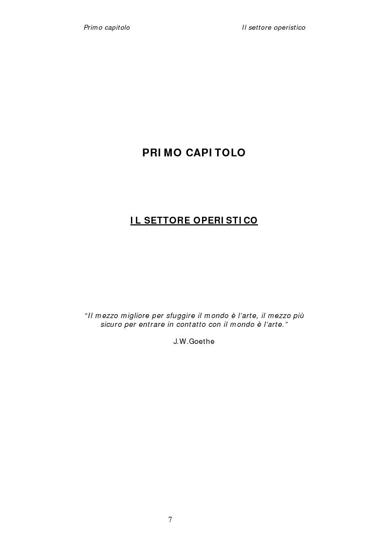 Anteprima della tesi: Dinamiche organizzative e gestionali nei teatri lirici italiani: il caso Fondazione Arena, Pagina 7