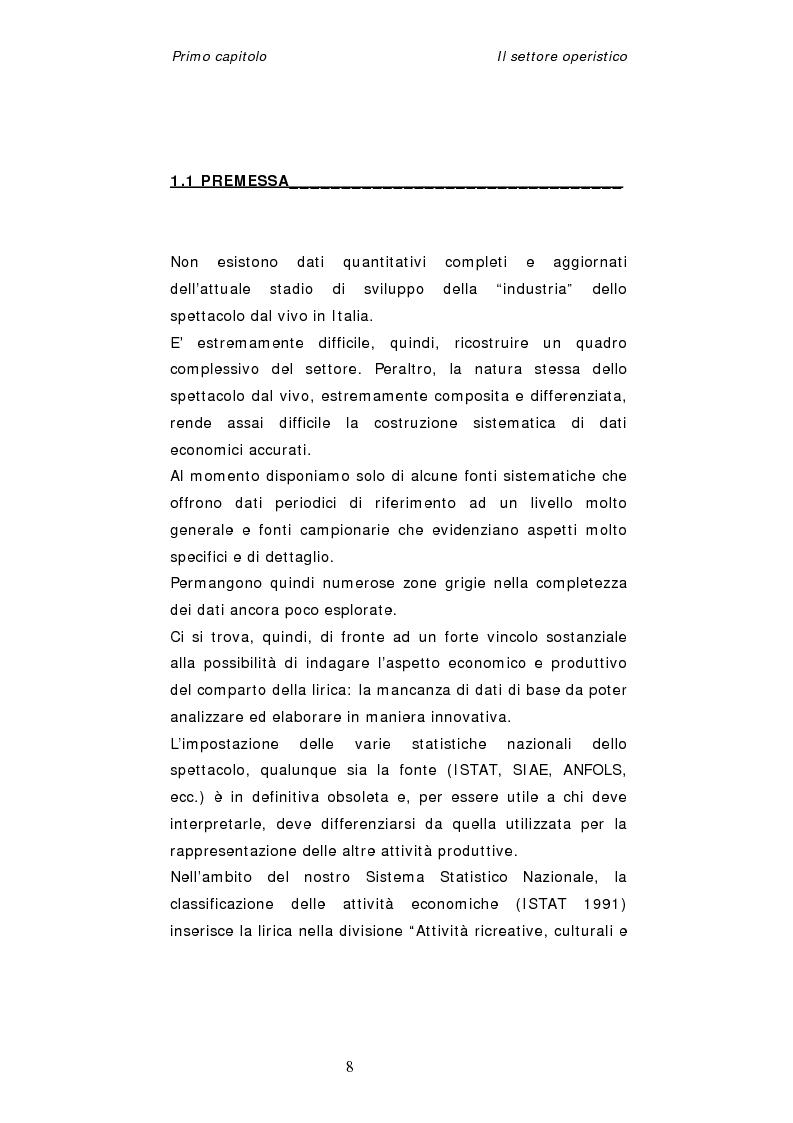 Anteprima della tesi: Dinamiche organizzative e gestionali nei teatri lirici italiani: il caso Fondazione Arena, Pagina 8