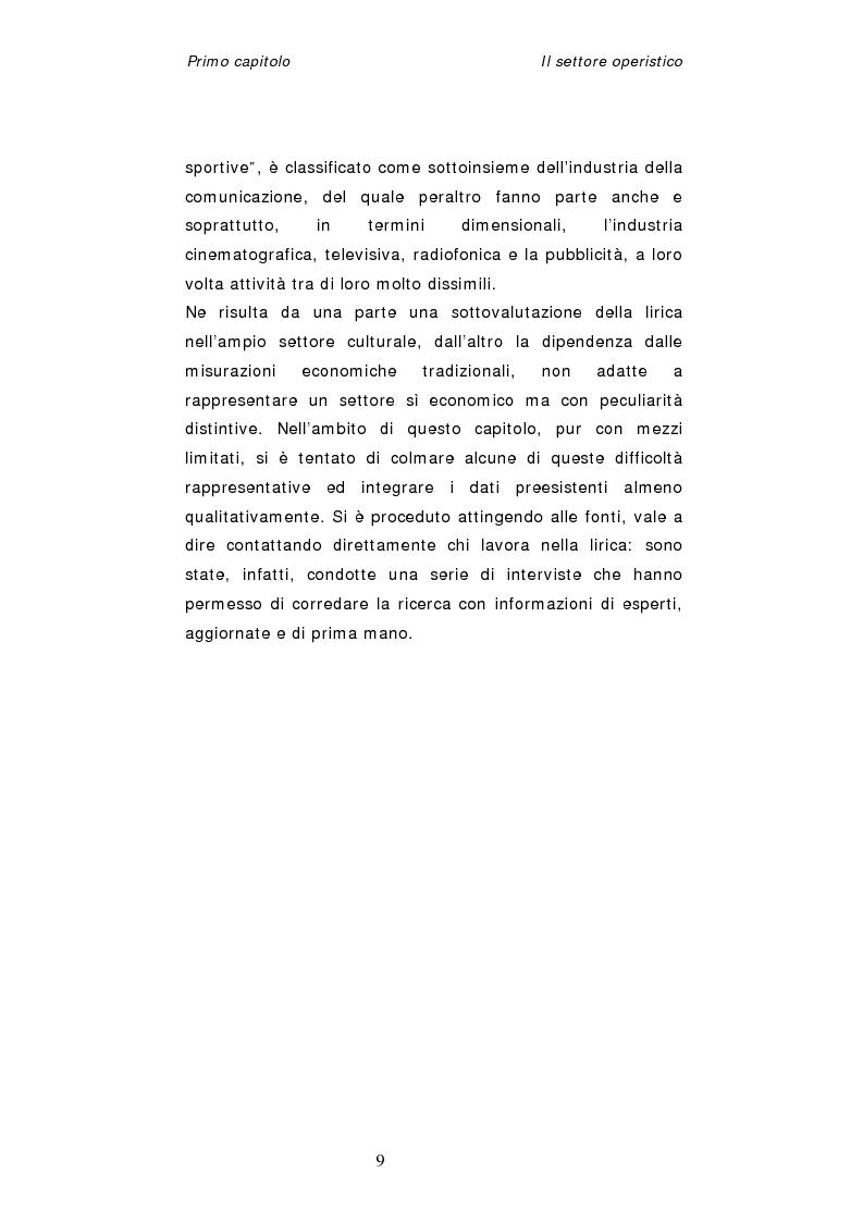 Anteprima della tesi: Dinamiche organizzative e gestionali nei teatri lirici italiani: il caso Fondazione Arena, Pagina 9