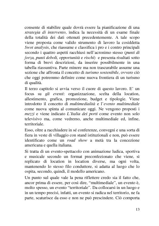 Anteprima della tesi: L'Italia dei Porti: tra evento televisivo e marketing territoriale, Pagina 4