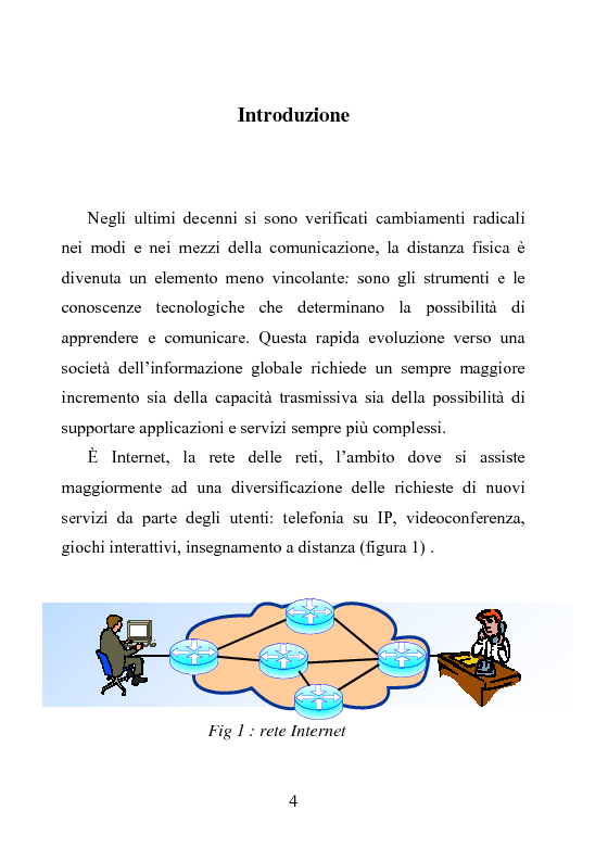 Anteprima della tesi: Architettura DiffServ per comunicazione anycast con QoS, Pagina 1