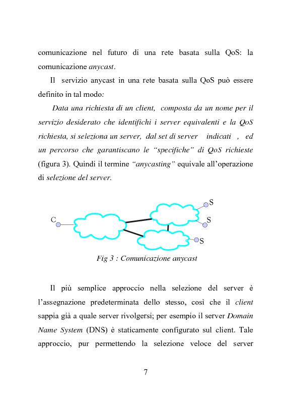 Anteprima della tesi: Architettura DiffServ per comunicazione anycast con QoS, Pagina 4